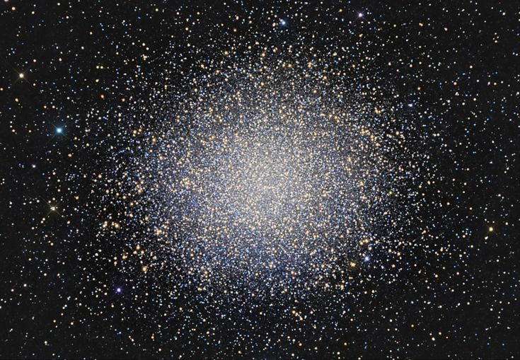 Globular star cluster Omega Centauri is some 15,000 light-years away & 150 light-years in diameter. The cluster is packed with about 10 million stars much older than the Sun. Omega Cen is the largest of 200 or so known globular clusters that roam the halo of our Milky Way galaxy.
