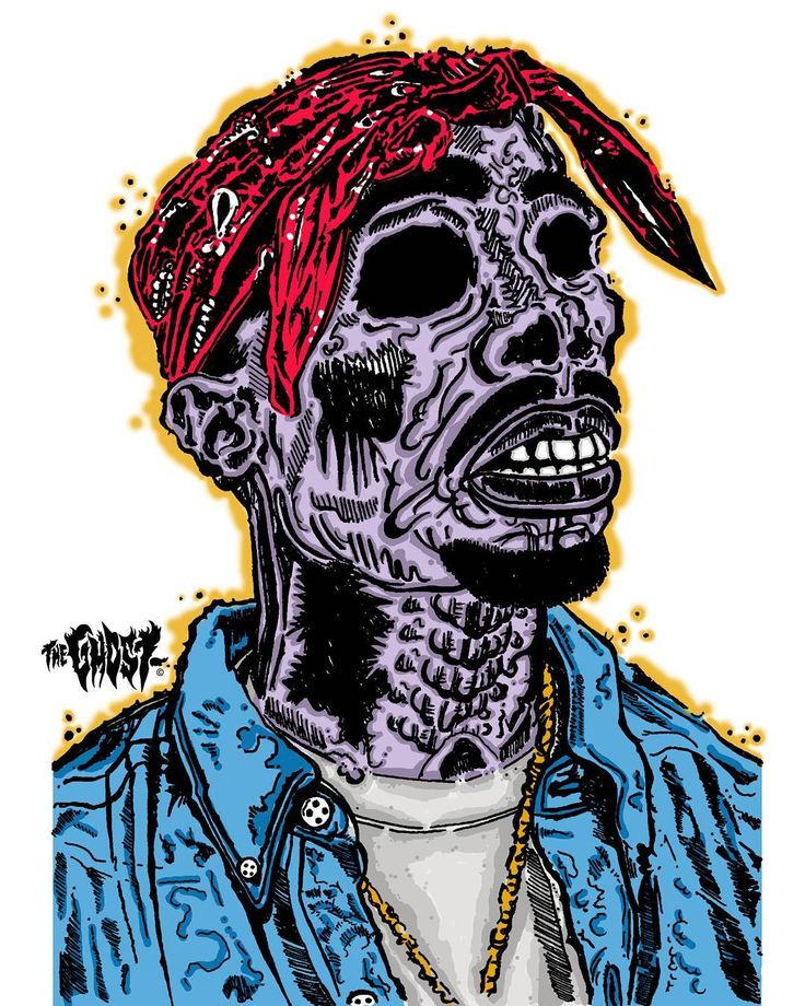 NEW - 2pac Infected variation.    Get your 11X17 inch Mini-poster on ETSY.    #streeart #zombie #stickers #sticker #vinyl #blackbook #urbanart #instaart #illustration #instagraff #gore #digitalart #texas #texasartist #dope #hiphop #2pac #thuglife #music #popculture #pop #artzine #tupac #htown