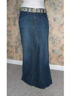 Long blue jean skirts for women – The most popular models skirts