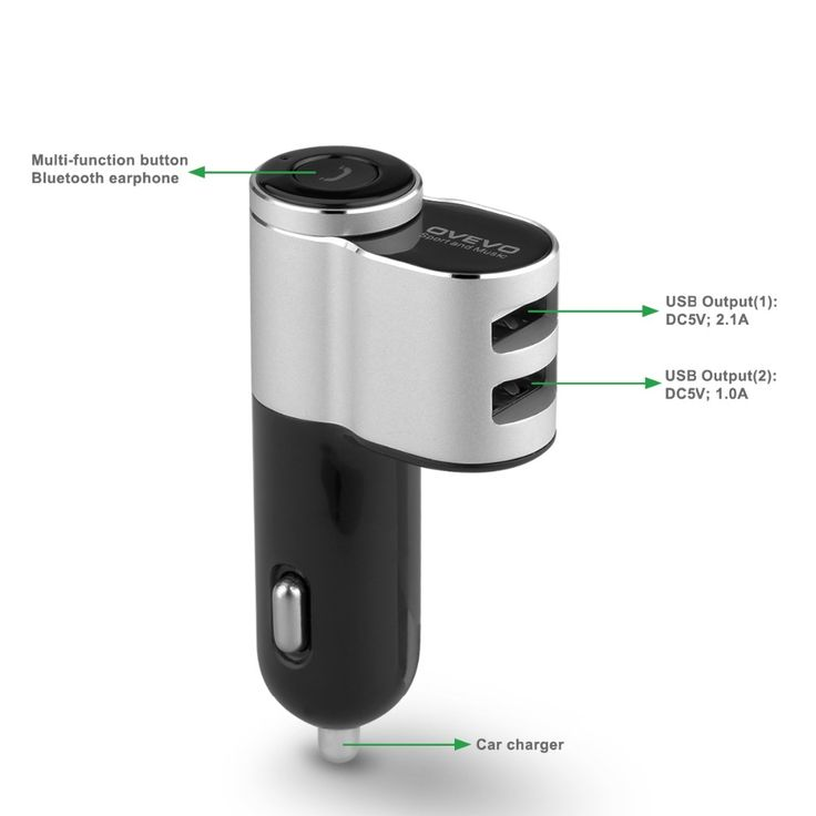 OVEVO Q10 Wireless Earbuds Auto Mini Car Charger