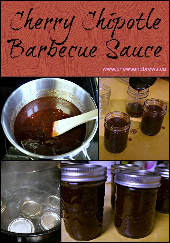 Cherry Chipotle Barbecue Sauce ~ www.chewsandbrews.ca                                                                                                                                                                                 More
