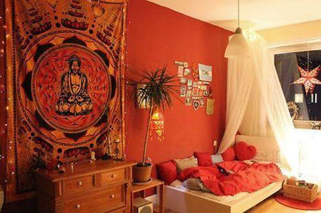 peinture couleur corail dans une chambre a touch of. Black Bedroom Furniture Sets. Home Design Ideas