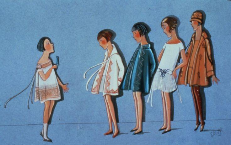 Enfants habillés par Jeanne Lanvin, 1929 © Patrimoine Lanvin. #Lanvin125