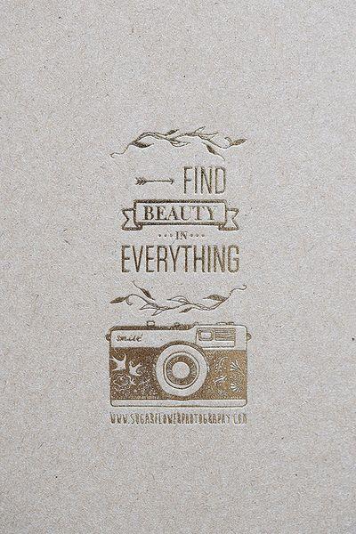 Finde Schönheit in allem