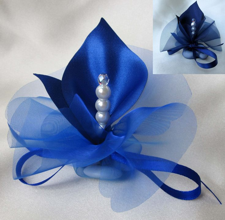 Fabric Handmade Calla Lily Wedding Favors Royal Blue Or By Adiart1 120