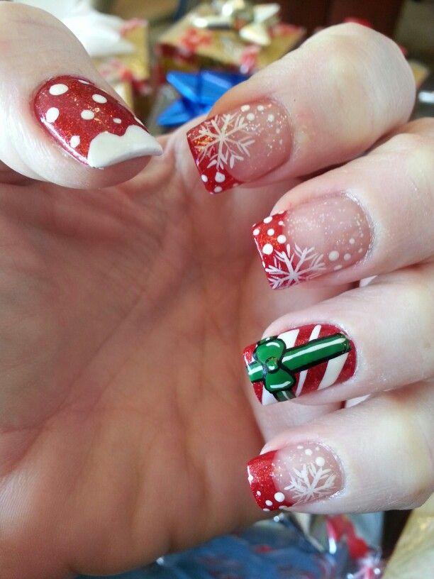 Christmas nails 2013: