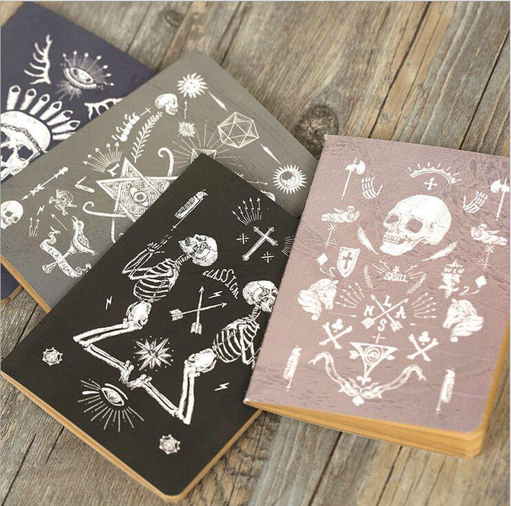 Vintage del cráneo de pirata series Kraft cuaderno de papel / libreta Floral No. 0156 en Libretas de Escuela y Oficina en AliExpress.com | Alibaba Group