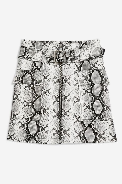 ce07bf9f0701de Snake Print Leather Look Belted Mini Skirt | Fall Fashion | Mini ...