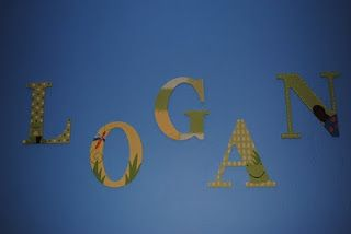 ways to hang wooden letters on a wall