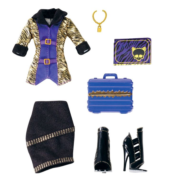 Amazon.com: Monster High Fashion Entrepreneurs Club Clawdeen Wolf Fashions Pack: Toys & Games
