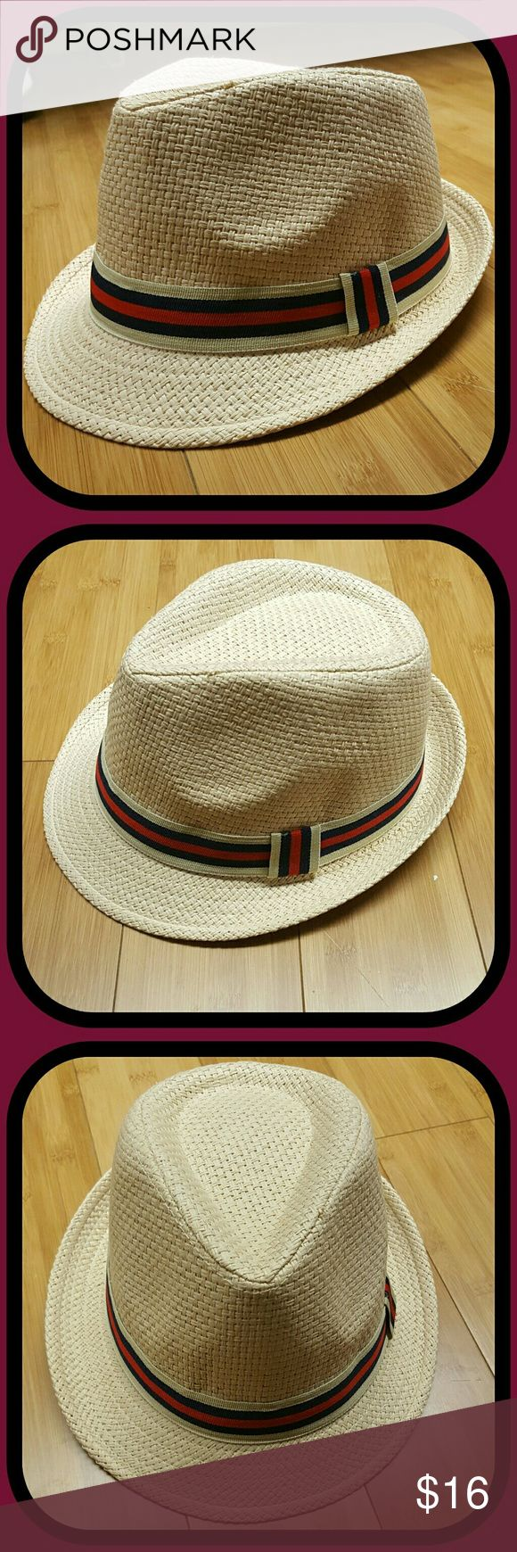 Natural Woven Fedora Hat This Fedora is perfect for Spring and Summer. Lightweight, breathable, lined. Adult one size. 90% woven paper, 10% polyester. Very durable and flexible. Flawless. Unisex. UnKnown Accessories Hats