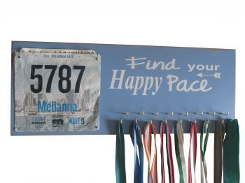 SHARE TO WIN!!! - Medal holder - find your happy pace graphic