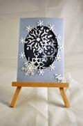 Cartoline di Natale - Dipinti con filo, schemi di punto croce, punto gobelin, canovaccio pre-stampato, ricamo