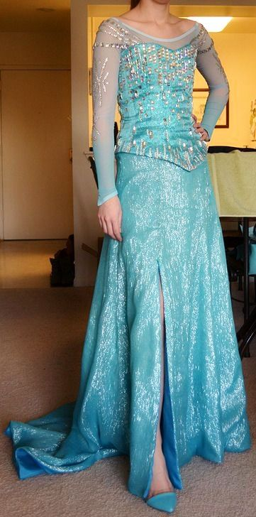 Handmade Disney Frozen Elsa inspired dress. #frozen #elsa