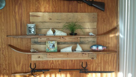 Antique Water Ski Shelf Nautical Shelf by SaultydogCreations, $80.00  WOW! This was my idea and I hadn't seen it on here yet! But here it is!!!!