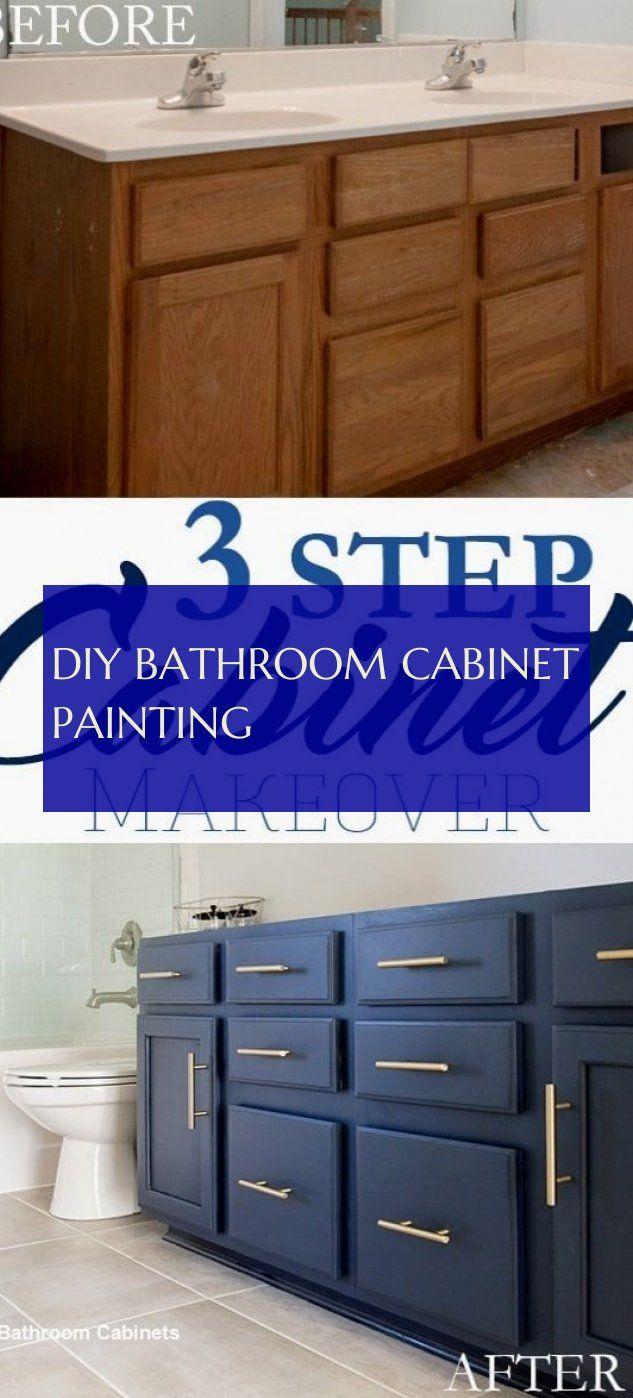 Diy Bathroom Cabinet Painting Diy Badezimmerschrank Malerei
