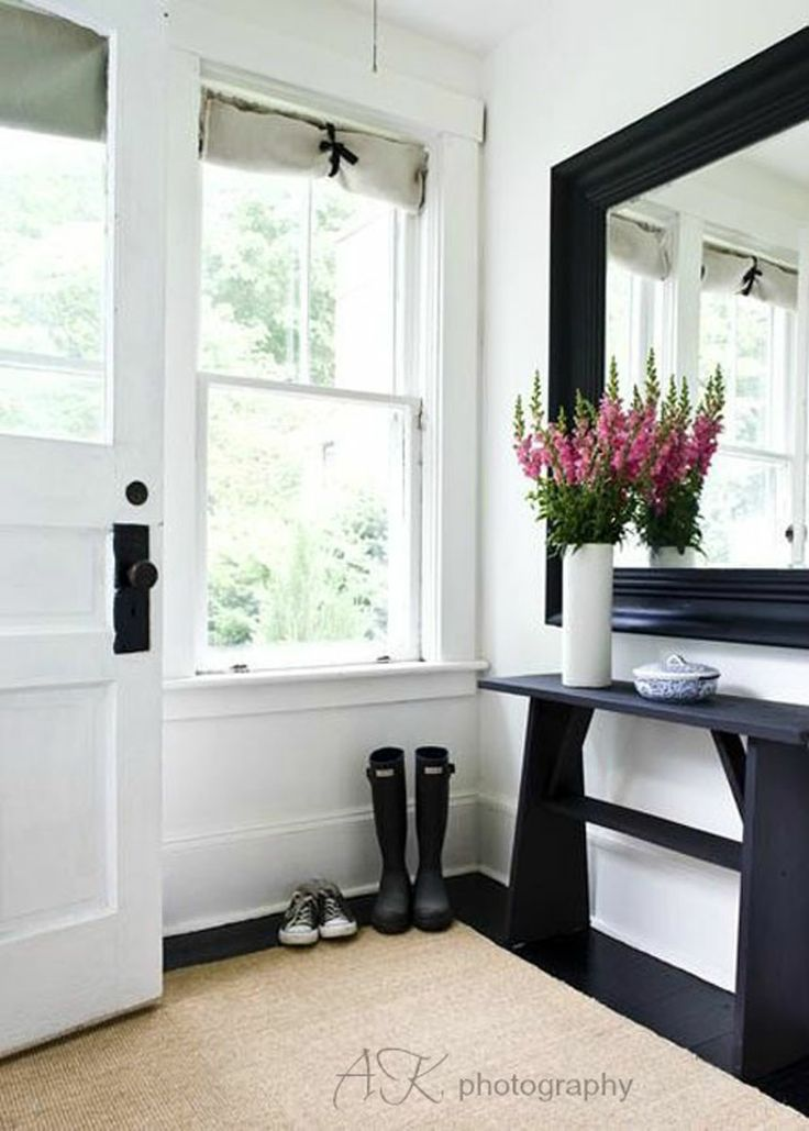 Simple black and whites for the front door.