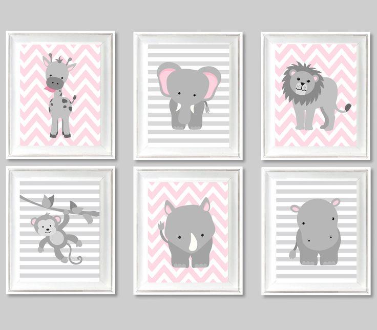 zoo nursery art baby boy baby room decor baby shower blue and grey safari jungle decor elephant lion giraffe monkey rhino