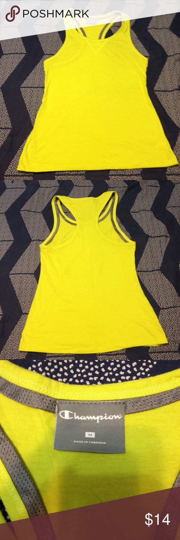 Champion Yellow Tank Top This tank top was never worn before and is in great condition Champion Tops Tank Tops