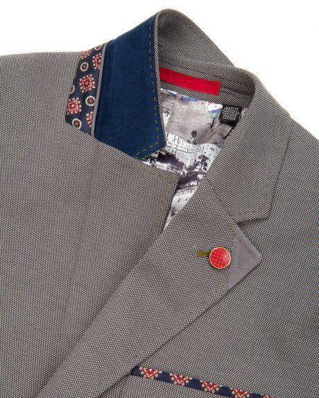 Cotton blazer - Grey | Blazers | Ted Baker ROW