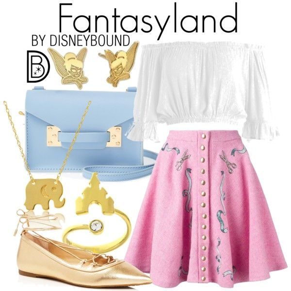 A fashion look from January 2017 by leslieakay featuring Sans Souci, Olympia Le-Tan, MICHAEL Michael Kors, Sophie Hulme, Wish by Amanda Rose, Disney, disney, di...