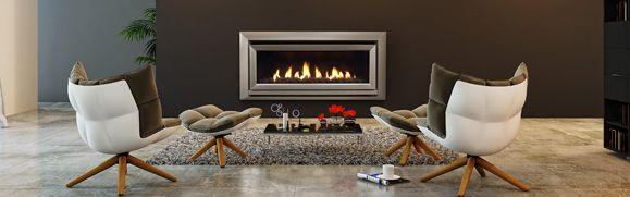modern gas log fire