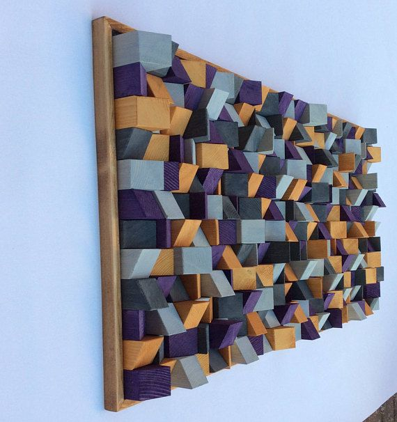 Wooden Wall Art by artist Riccardo Ransarno 3D effect hand cut