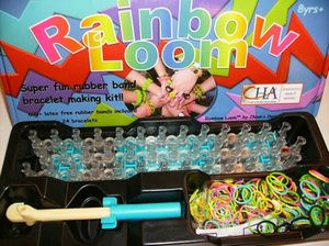 Rainbow Loom - twistz bandz - DIY loom bands - gelang pelangi karet handmade