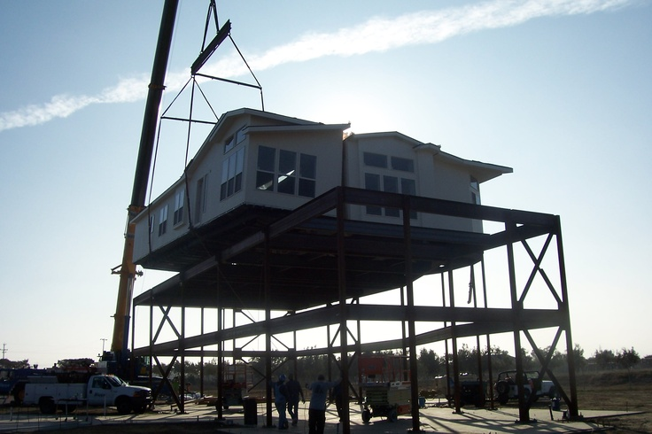 Last Craned Modular Home Section Complete (2600 sqft home) 26' in the air