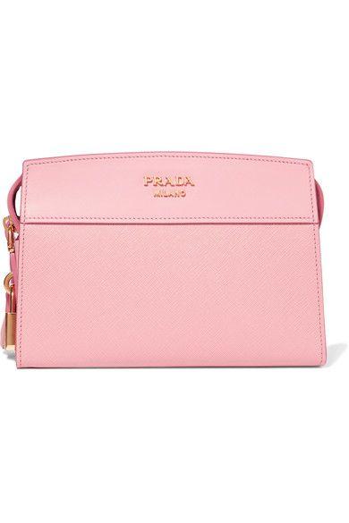 Prada - Esplanade Smooth And Textured-leather Shoulder Bag - Pink