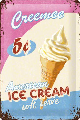 Ice Cream Tin Sign at Art.co.uk