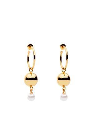 Billie Earrings Hoop  Pearl S/Steel Gold