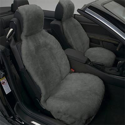 Want these for mah cah.   Eurow Side Less 100% Sheepskin Seat Cover Accomodates Side Airbags Grey | eBay