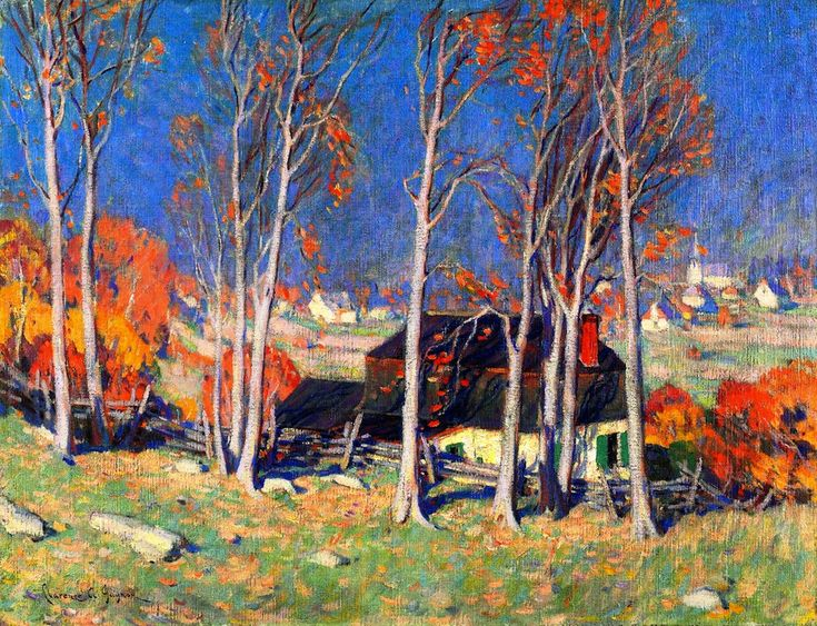 The Athenaeum - Lonely Village on the Saint Lawrence (Clarence Gagnon - 1922)