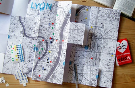 French based design Julie Michel has got some interesting work. Pictured is her project My Way #3, a great fold out map and journal that allows the user to document a more personal experience.