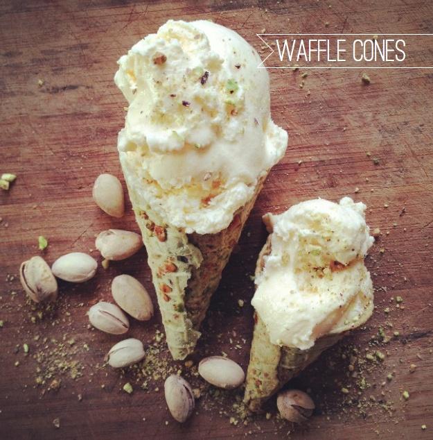 Ampersand's Waffle Cones: Pistachio