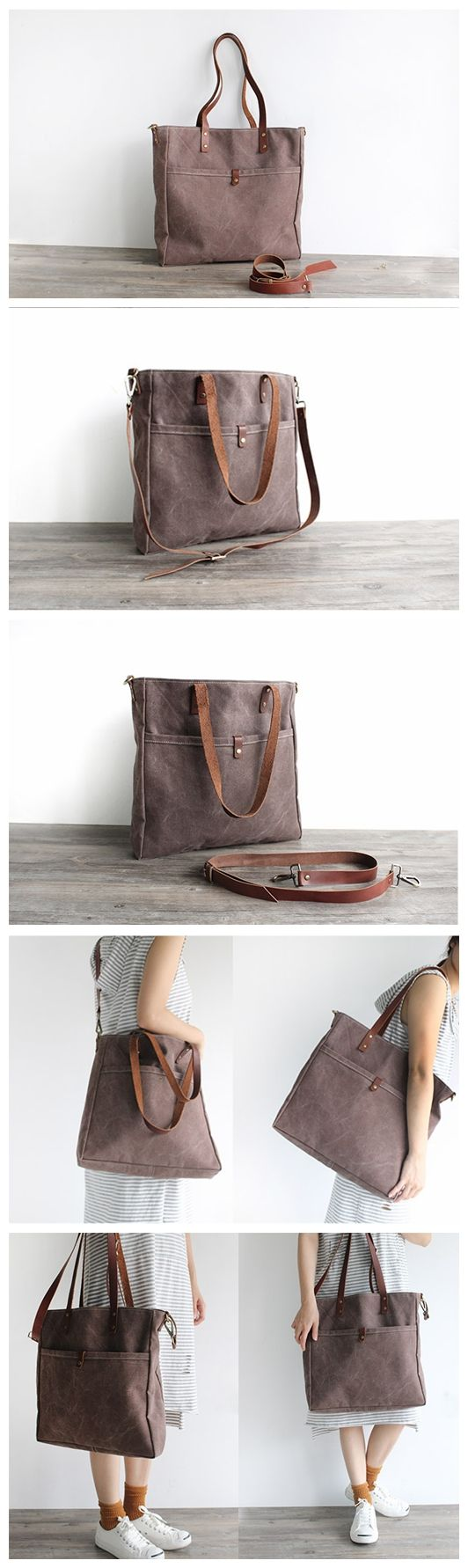 Handmade Canvas Tote Bag Messenger Bag Shoulder Bag Handbag 16000