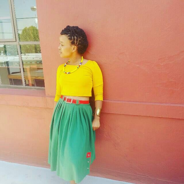 African accesories. Colourful fashion. Dreadlocks