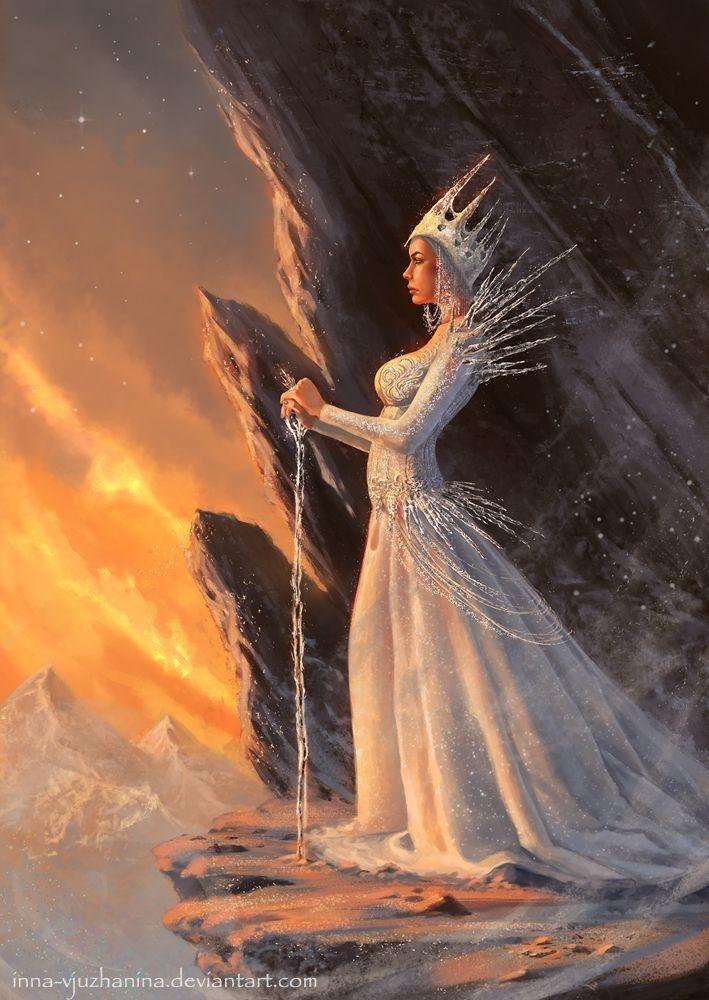 Картинки фэнтези снежная королева только для