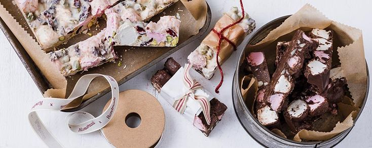 Rocky Road is always a crowd pleaser. Make it that much more special by using premium quality dark cooking chocolate like NESTLÉ BAKER'S CHOICE Dark Melts.