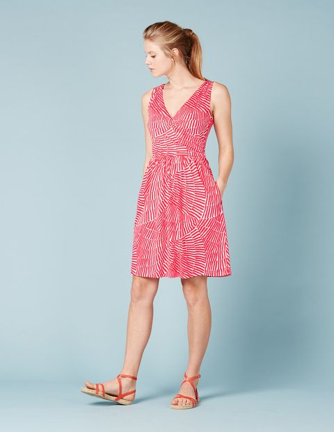Pretty Ruched Wrap Dress WW062 Day Dresses at Boden