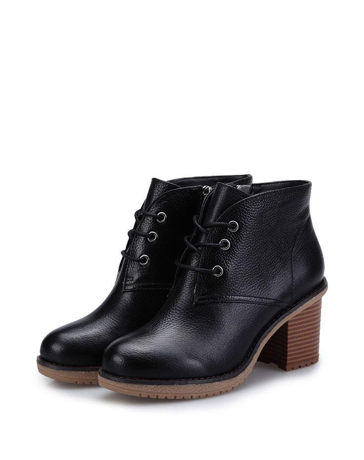 Alexis Lace Boot – Genkek Shoes