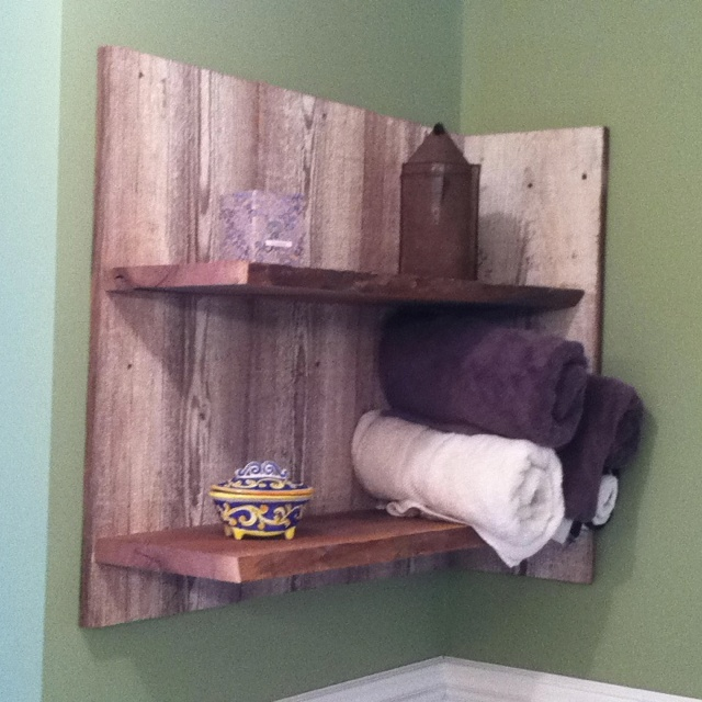 Barn Siding Shelves For The Bathroom Bathrooms