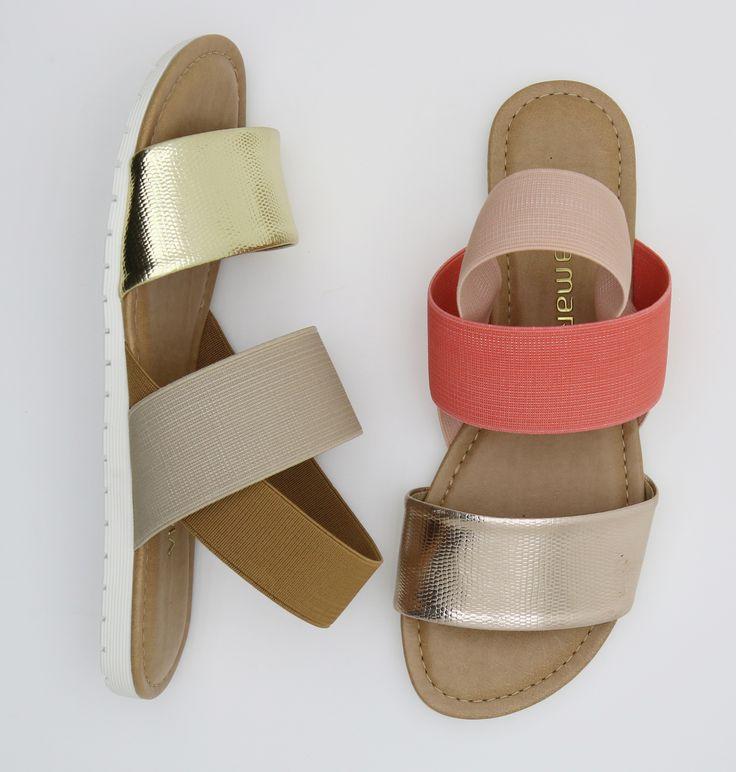 sandália rasteira - summer shoes - dourado - prata - coral - Verão 2016 - Ref. 15-16957 | 15-16907