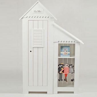 Superb Kinderkleiderschrank LA MER mit Spitzdach wei t rig g nstig online kaufen