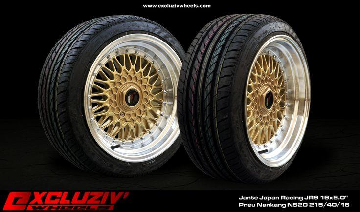 jantes japan racing jr9 16x9 0 pneus nankang ns20 215 40 16 excluziv 39 wheels jantes. Black Bedroom Furniture Sets. Home Design Ideas