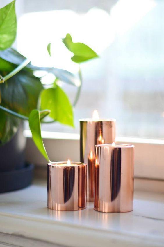 Rose gold ljushållare från Lagerhaus: