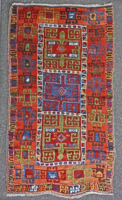 rare east anatolian kurdish rug, 195x106cm