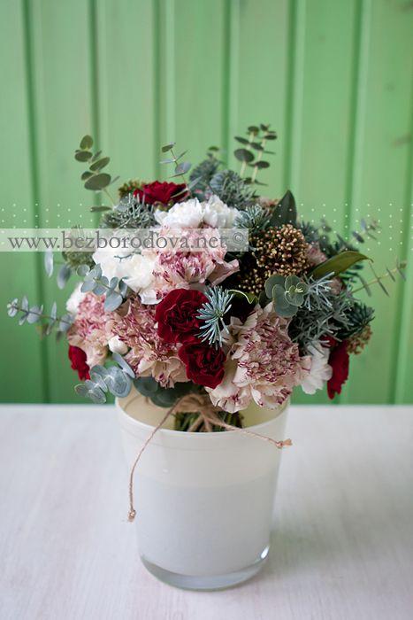 Зимние свадебные букеты | Евгения Безбородова