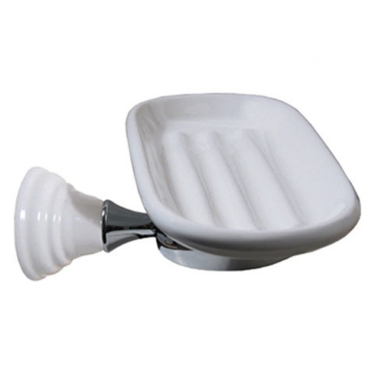 Whitehaus Collection Eagle Ceramic Soap Dish and Holder - CA122 / 132
